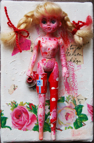 Adolescent | Assemblage Doll Painting II