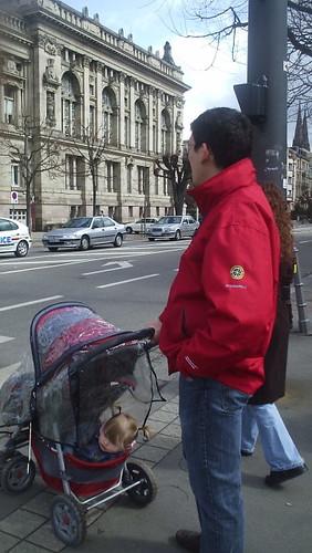 Petite Clown in stroller bottom