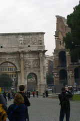Arch of Constantine and the Colosseum