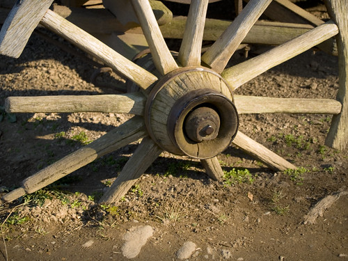 Broke Down Wagon Wheel