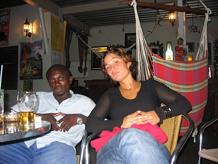 Kleine and Lieke at Broki (the hammock bar)