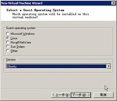 vmware选择要虚拟的操作系统