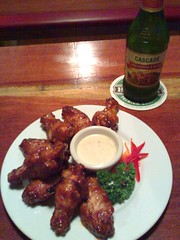 Buffalo Wings and Cascade Beer