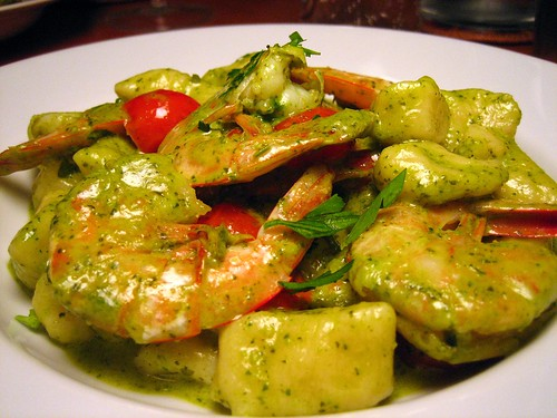Gnocchi with Shrimp and Arugula Pesto