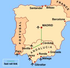 Peta Kedudukan Andalusia Dlm Spain