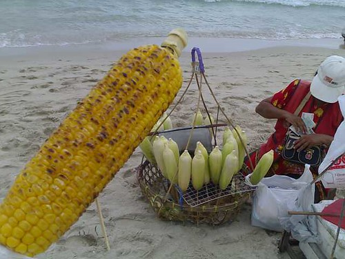 The Barbequed Corn Lady on Chaweng
