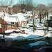 First snow of 1993 in Fairview, New Jersey