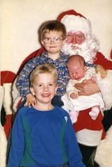 Three Children with Santa