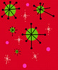 50s Christmas pattern