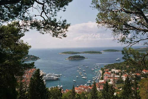 Harbor of Hvar Town in Croatia