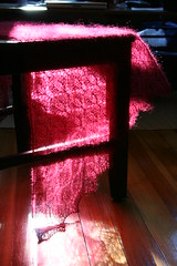 Leaf Lace Shawl on Chair