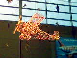 It's a wireframe plane with fairy light