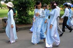 Vietnamese Girl in Traditioanal Dress