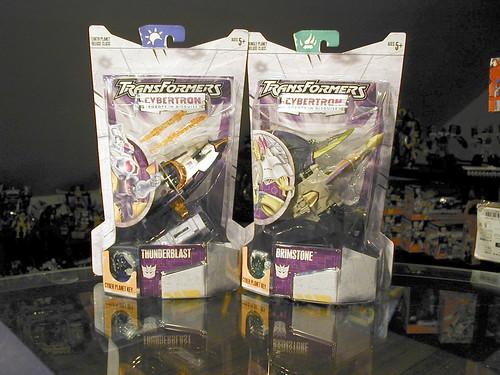 Cybertron Thunderblast and Brimstone