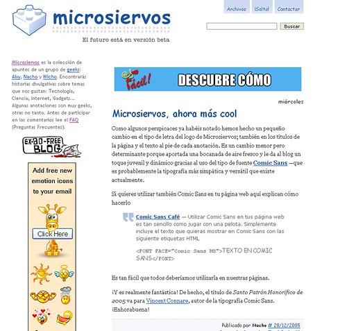 Microsiervos 28.12.2005