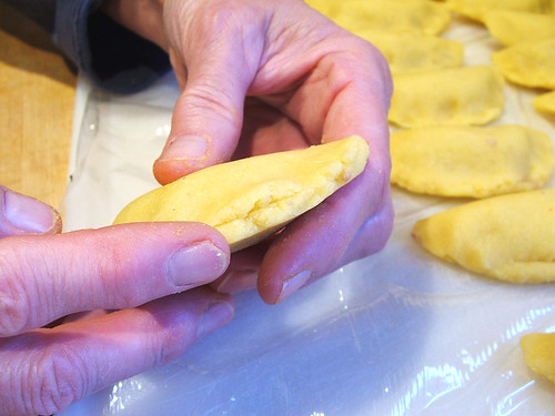 Colombian Empanadas: Step 18 - Formation: Step 4: Wrap process