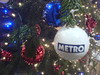 Baubles on the Metro sponsored Christmas Tree at Edinburgh Waverley station 2005
