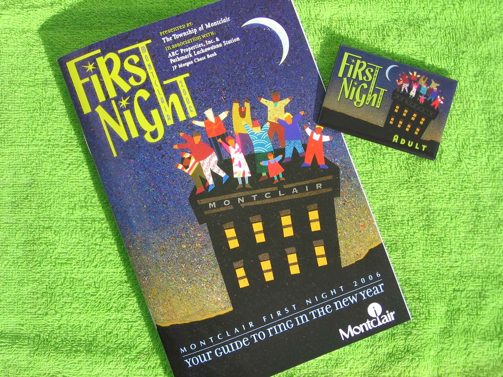 First Night program and button