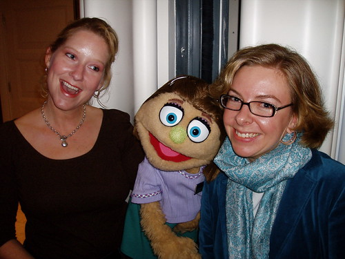 Sandee with Kate Monster of Avenue Q.
