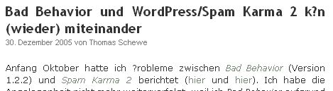 WordPress: Kaputte Unlaute mit IE