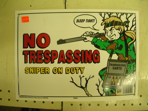 Sniper on Duty Sign