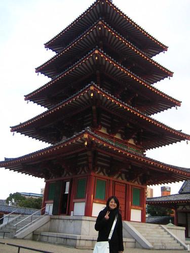 me at 四天王寺