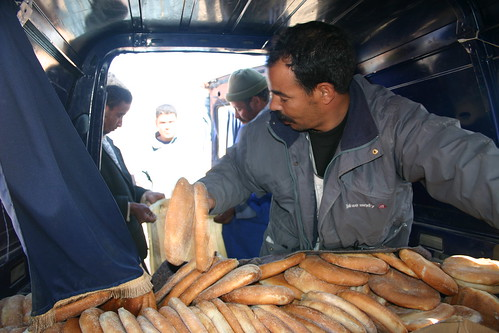 Mohammed delivering the daily bread to a rural school outside of Rich.