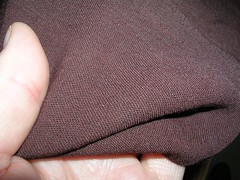 the brown fabric