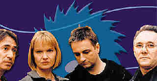 Art Of Noise v3.0: seduced yet? (L-R: Lol Creme, Anne Dudley, Paul Morley, Trevor Horn)