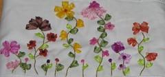 çiçekli havlu detay