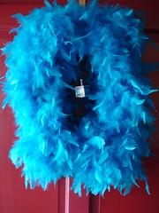Chanukah-Themed Feather Wreath 6
