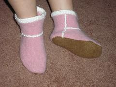 Fuzzy feet!