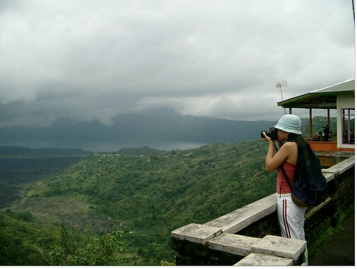 Mysara Taking Photo at Kintamani