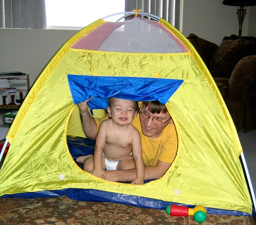 Dad & Toby Try Out the Tent