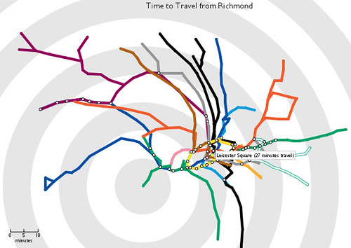 Animated Time Travel Tube Map