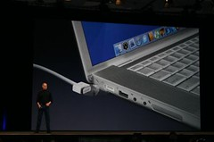 MacBook Pro MagSafe connector - Macworld keynote January 2006