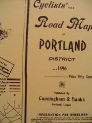 Bike map of Portland in 1896
