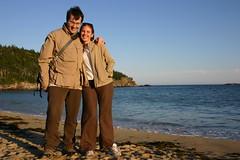 Sand beach ad Acadia NP