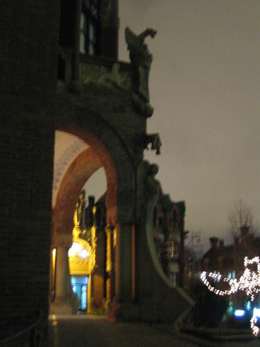 Hospital de la Santa Creu i Sant Pau. Vestíbulo de uno de los edificios.