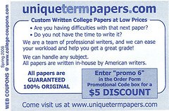 Coupon for plagiarism