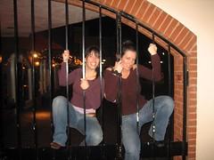 Becs, Jess climb Zocolo fence
