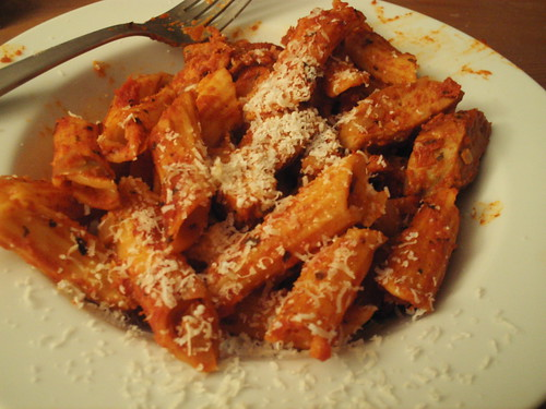 Rustic Penne with Spicy Sausage