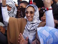 Aminatu Haidar en la calle