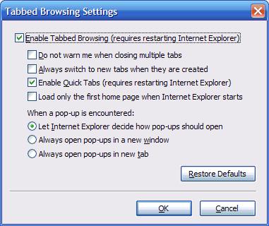 28 - Tab settings