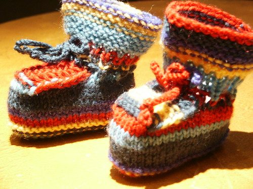 Baby Booties - Knit by Mariann