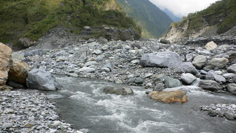 恰堪溪(壽豐溪)和其支流匯合處