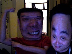 brown and miyagi play with Apple's Photo Booth