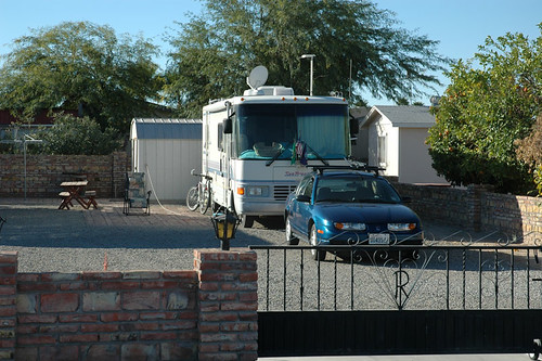 RV parked in Yuma