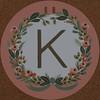 Garland Letter K