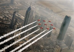Red Arrows Over Kuwait City photo by Defence Images